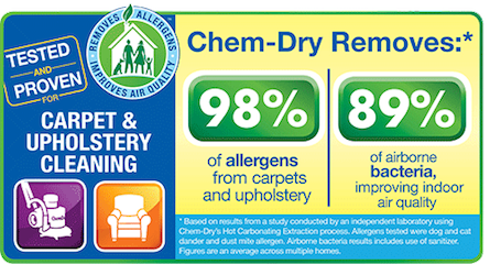 Carpet Cleaning by Blue Ribbon Chem-Dry Helps Remove 98% of Allergens and 89% of Airborne Bacteria