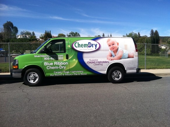 Blue Ribbon Chem-Dry Carpet Cleaning Truck