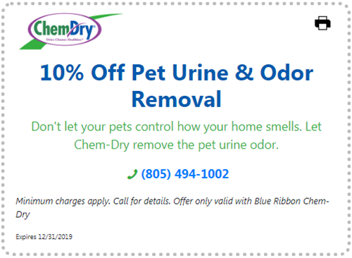10% off pet urine and odor removal