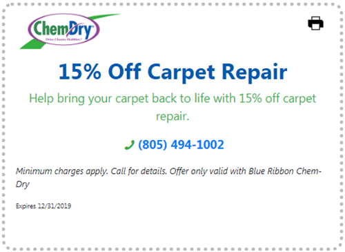 15% off carpet repair